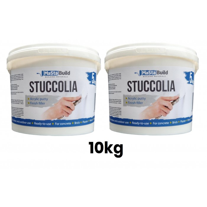 10kg STUCCOLIA Fine Finish Filler Crack Repair Acrylic Putty