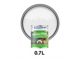0.7L WOOD & METAL Indoor/Outdoor WHITE Semi-matt Paint