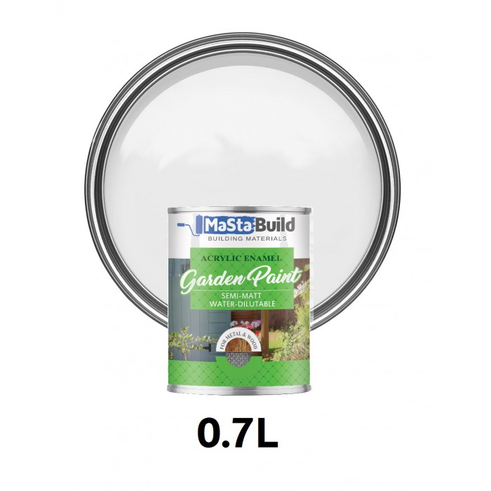 0.7L WOOD & METAL Indoor/Outdoor WHITE Semi-matt Paint