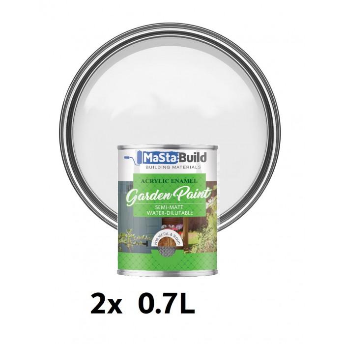 1.4L WOOD & METAL Indoor/Outdoor WHITE Semi-matt Paint