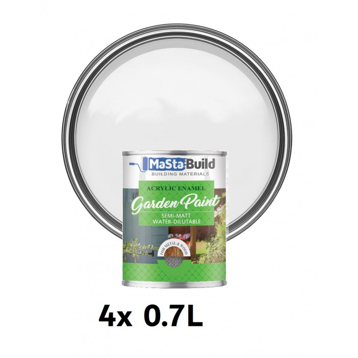 2.8L WOOD & METAL Indoor/Outdoor WHITE Semi-matt Paint