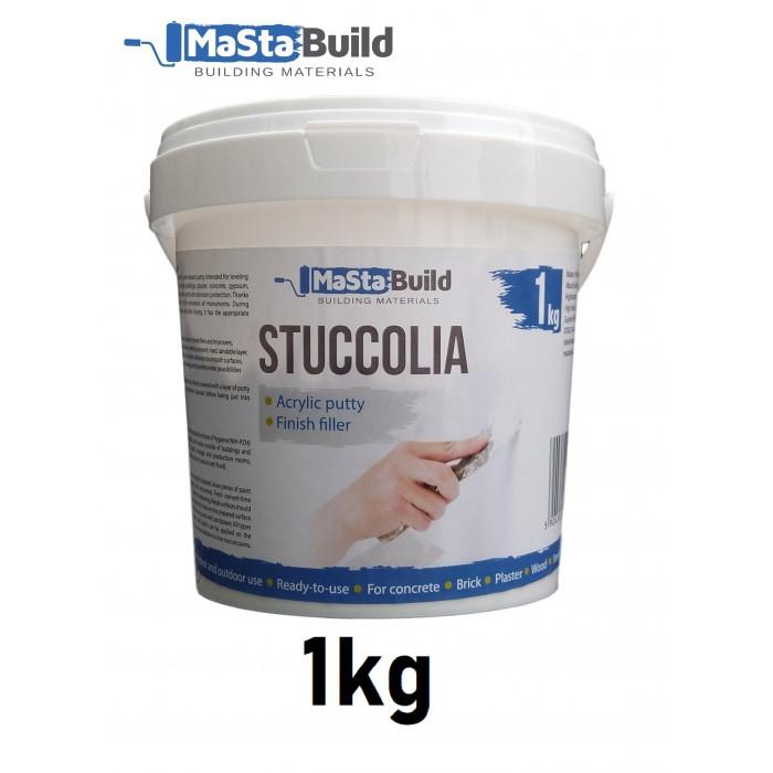 1kg STUCCOLIA Fine Finish Filler Crack Repair Acrylic Putty