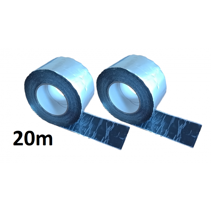 20m ALUBUTYL - Aluminium Butyl Tape 100mm