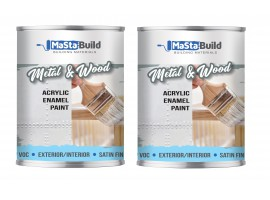 1.5L METAL & WOOD Indoor/Outdoor WHITE Satin Paint