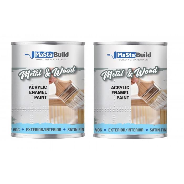 1.5L METAL & WOOD Indoor/Outdoor WHITE Satin Paint