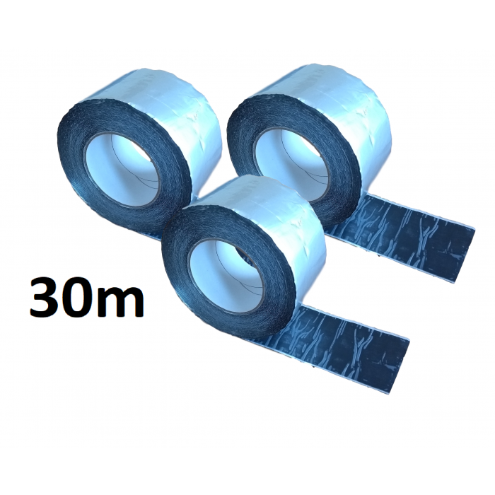 30m ALUBUTYL - Aluminium Butyl Tape 100mm