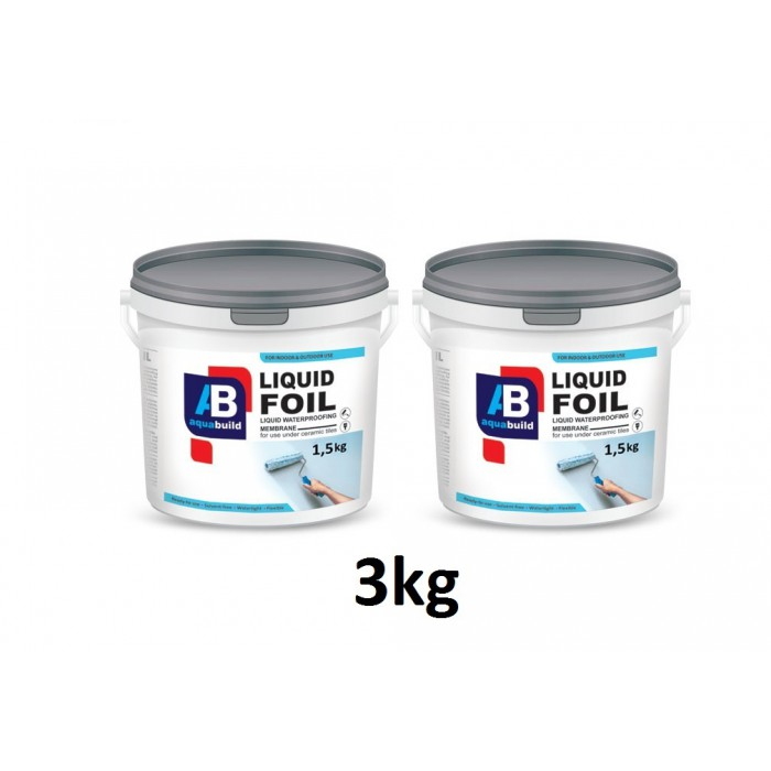 3kg LIQUID FOIL Waterproof Tanking Membrane