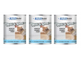 2.25L METAL & WOOD Indoor/Outdoor WHITE Satin Paint