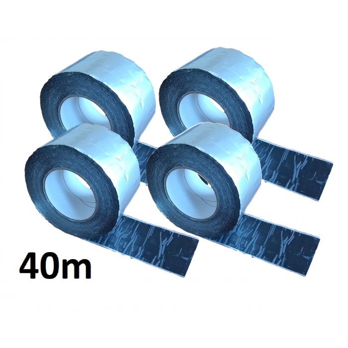 40m ALUBUTYL - Aluminium Butyl Tape 100mm