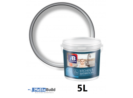 5L KITCHEN & BATHROOM Latex Paint Matt Finish WHITE