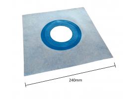 1x Elastic Waterproof Tanking Drain Collar 8-11cm Ø, 240mm