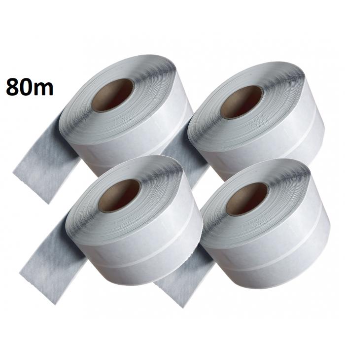 80m Self-Adhesive Waterproof Tanking BUTYL Tape 100mm