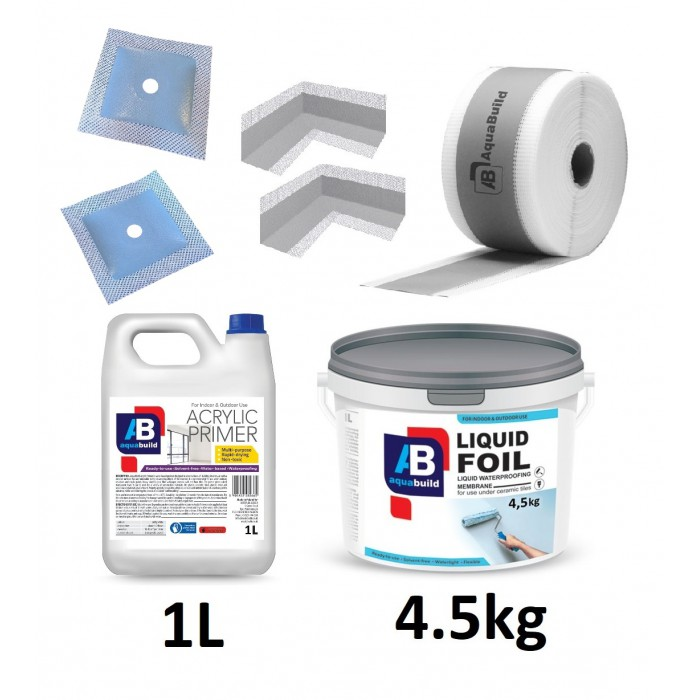 4.5kg LIQUID FOIL Waterproof Tanking Kit 2