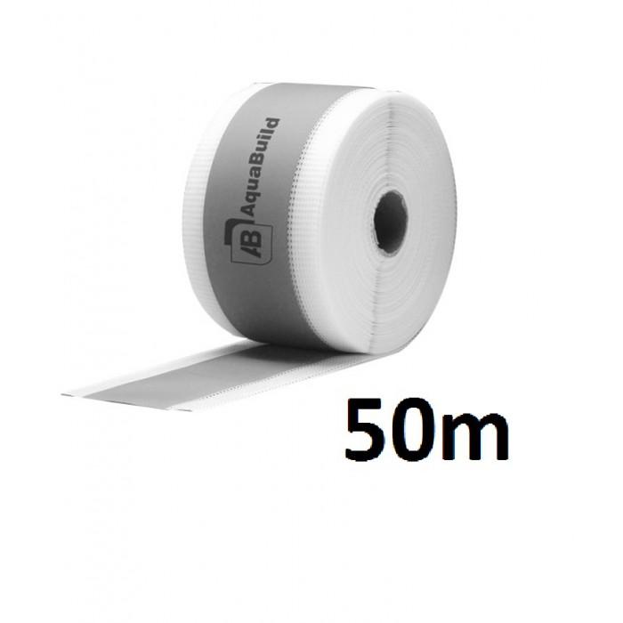 """50m Fleece-backed Waterproof Tanking """"TYPE II"""" Tape"""