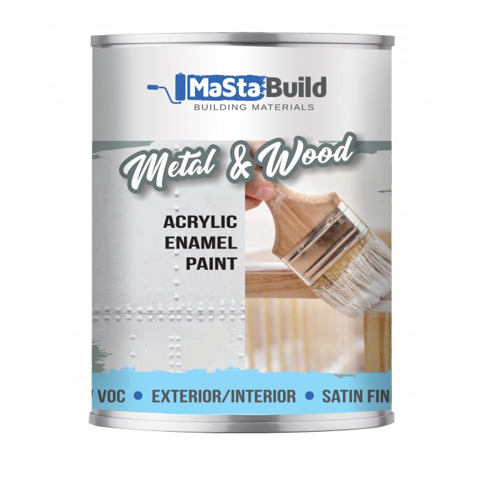 750ml METAL & WOOD Indoor/Outdoor WHITE Satin Paint