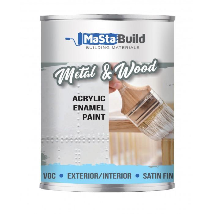 750ml METAL & WOOD Indoor/Outdoor WHITE Satin Paint